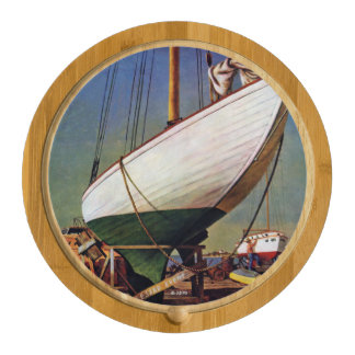 Dry Dock by John Atherton Cheese Platter