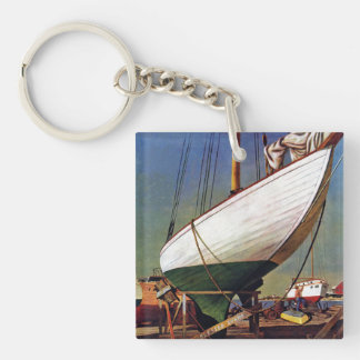 Dry Dock by John Atherton Keychain