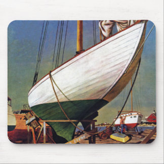 Dry Dock by John Atherton Mouse Pad