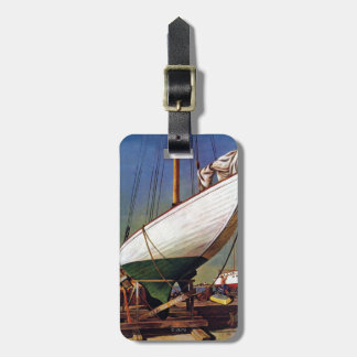 Dry Dock by John Atherton Tag For Luggage