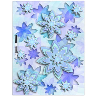 Dry-erase board abstract lotus flowers