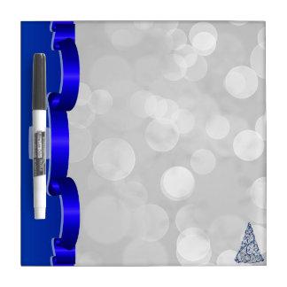 Dry-Erase Board - Cobalt Swirls Tree