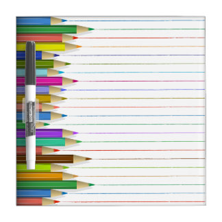 Dry-Erase Board - Colored Pencil Lines