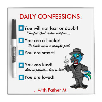 Dry Erase Board | Daily Confessions For Kids