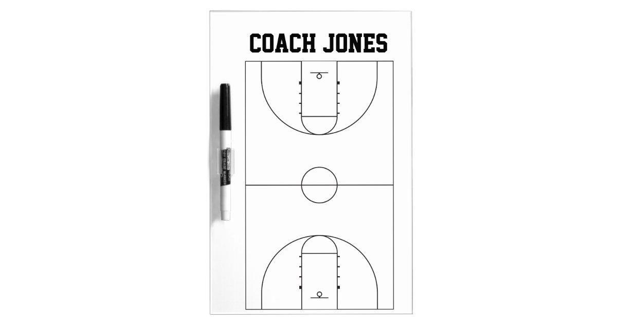dry erase board for basketball coach