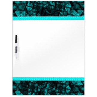 Dry Erase Board fractal art black and blue