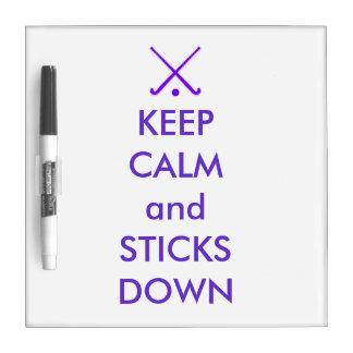 Dry Erase Board: Keep Calm & Sticks Down Dry-Erase Board