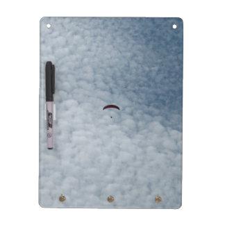Dry Erase Board - Paraglider in Clouds