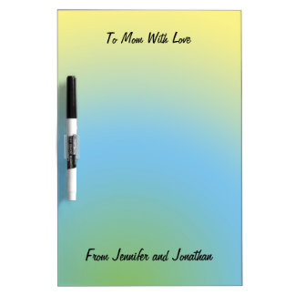 Dry Erase Board, Personalize, Pastel Blue Yellow Dry-Erase Board