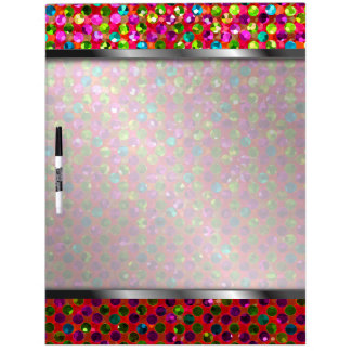 Dry-Erase Board Polka Dots Sparkley Jewels