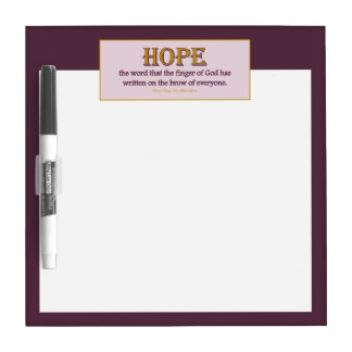 Dry Erase Board Small: Hope