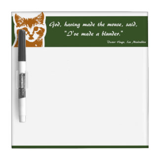 Dry Erase Board Small: The Cat
