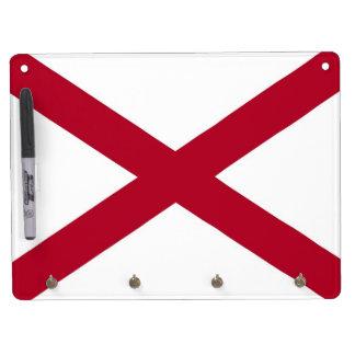 Dry Erase Board with Flag of Alabama, USA