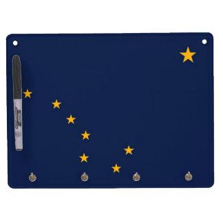Dry Erase Board with Flag of Alaska, USA