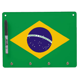 Dry Erase Board with Flag of Brazil