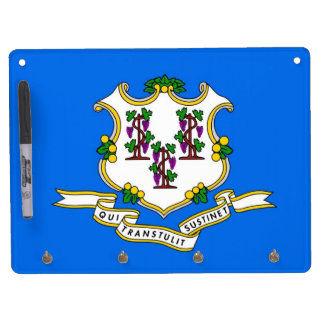 Dry Erase Board with Flag of Connecticut, USA