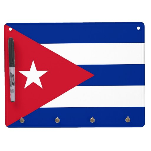 Dry Erase Board with Flag of Cuba