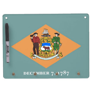 Dry Erase Board with Flag of Delaware, USA