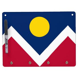 Dry Erase Board with Flag of Denver, Colorado