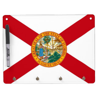 Dry Erase Board with Flag of Florida, USA