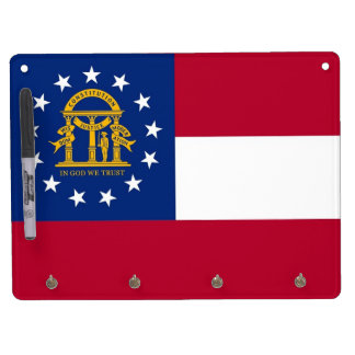 Dry Erase Board with Flag of Georgia, USA