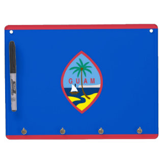 Dry Erase Board with Flag of Guam, USA