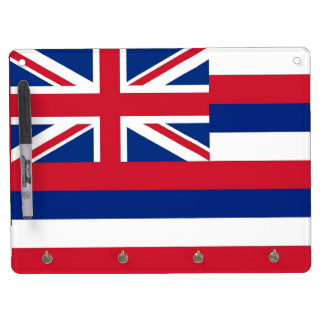 Dry Erase Board with Flag of Hawaii, USA