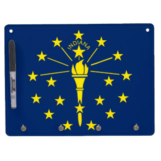 Dry Erase Board with Flag of Indiana, USA