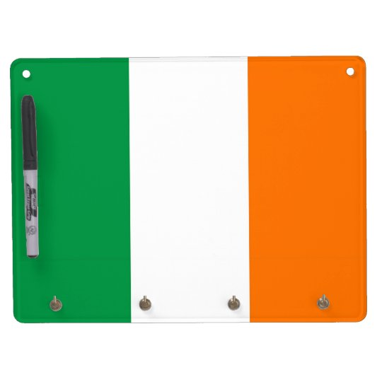 Dry Erase Board with Flag of Ireland