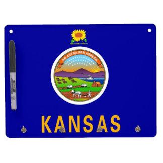 Dry Erase Board with Flag of Kansas, USA
