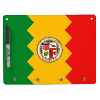 Dry Erase Board with Flag of Los Angeles, USA