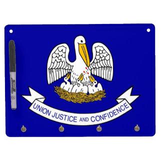 Dry Erase Board with Flag of Louisiana, USA