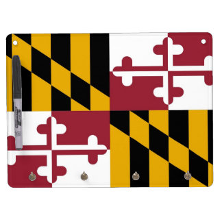 Dry Erase Board with Flag of Maryland, USA