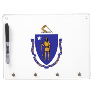 Dry Erase Board with Flag of Massachusetts, USA