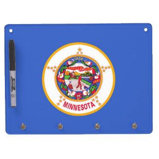 Dry Erase Board with Flag of Minnesota, USA