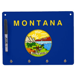 Dry Erase Board with Flag of Montana, USA