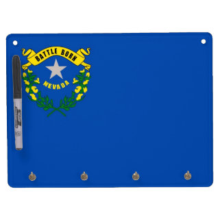Dry Erase Board with Flag of Nevada, USA