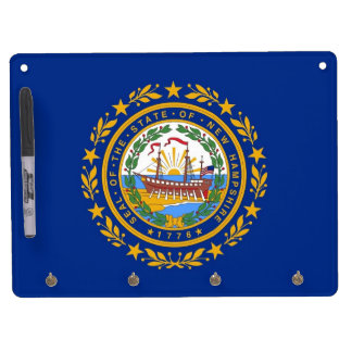 Dry Erase Board with Flag of New Hampshire, USA