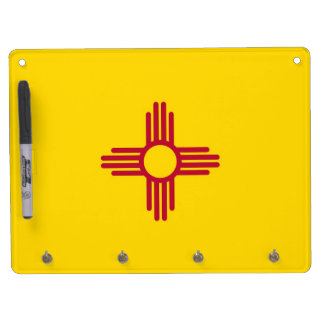 Dry Erase Board with Flag of New Mexico, USA