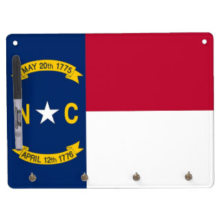 Dry Erase Board with Flag of North Carolina, USA