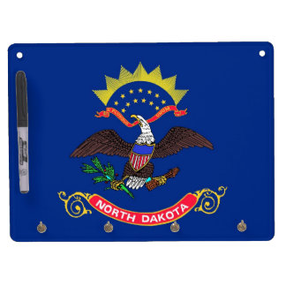 Dry Erase Board with Flag of North Dakota, USA
