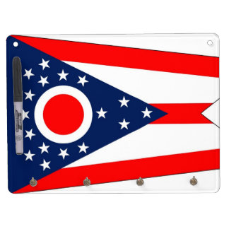 Dry Erase Board with Flag of Ohio, USA