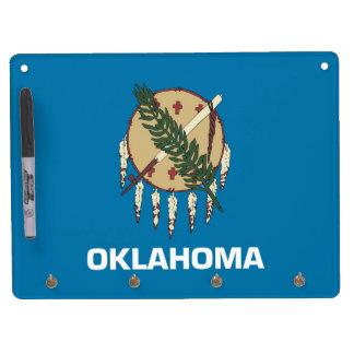 Dry Erase Board with Flag of Oklahoma, USA