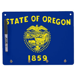 Dry Erase Board with Flag of Oregon, USA
