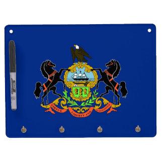 Dry Erase Board with Flag of Pennsylvania, USA