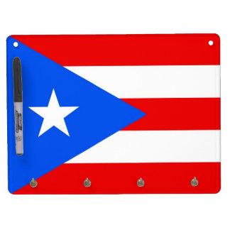 Dry Erase Board with Flag of Puerto Rico, USA