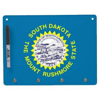 Dry Erase Board with Flag of South Dakota, USA