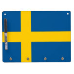 Dry Erase Board with Flag of Sweden