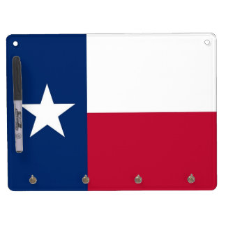 Dry Erase Board with Flag of Texas, USA