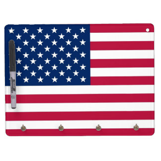 Dry Erase Board with Flag of USA